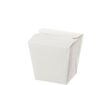 Paper Food Pail - No Handle, 8oz Small, White
