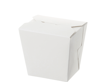 Paper Food Pail - No Handle, 16oz Medium, White - Castaway