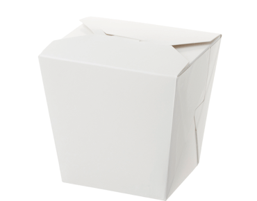 Paper Food Pail - No Handle, 26oz Large, White - Castaway