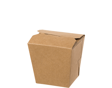 Paper Food Pail - No Handle, 8oz Small, Brown kraft - Castaway