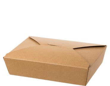 Paper Meal Pail #2 Large, Brown kraft - Castaway