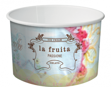 La Fruita Paper Ice Cream / Gelato Cups, Small Take Home Pack 12 oz - Castaway