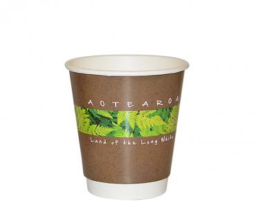 8oz Flora Double Wall Paper Hot Cup - Castaway