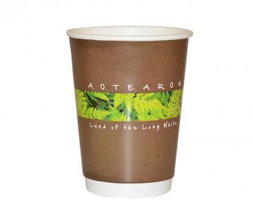 12oz Flora Double Wall Paper Hot Cup - Castaway