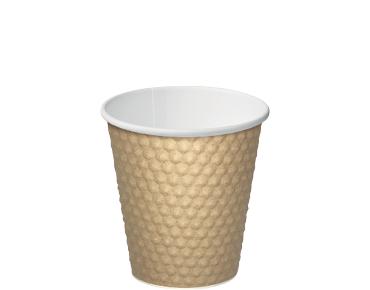 8oz Brown Dimple' Paper Hot Cup - Castaway