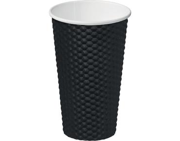 16oz Black Dimple' Paper Hot Cup - Castaway