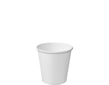 4oz White Single Wall Paper Hot Cup - Castaway