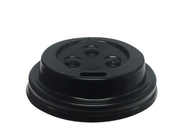 SnapOn Sippa Hot Cup Lid BLACK (suit 4oz Espresso / Babycino cup) - Castaway