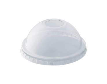 HiKleer' P.E.T Cold Cup Lid Dome, with straw hole (suit 7oz-10oz, 285 ml)