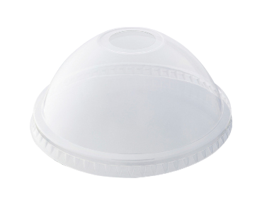 HiKleer' P.E.T Cold Cup Lid Dome, with straw hole (suit 16oz & 20oz)