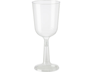 197ml Elegance' Wine Goblet, Two piece construction, Clear