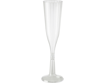 144ml Elegance' Champagne Flute, Two piece construction, Clear