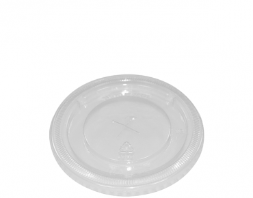 Costwise' P.E.T Cold Cup Lid Flat, with straw slot (suit 425ml cups) - Castaway