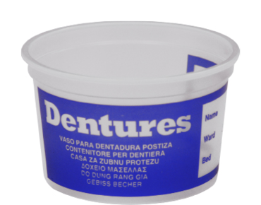 262ml Denture Cup, Natural - Castaway