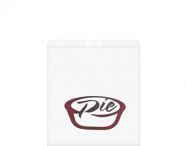 Greaseproof Bag, Printed 'Pie', White - Castaway