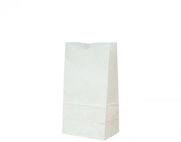 #4 SOS Paper Bags, flat bottom, White - Castaway