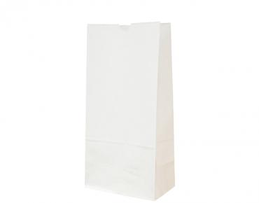 #8 SOS Paper Bags, flat bottom, White - Castaway