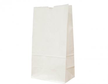 #12 SOS Paper Bags, flat bottom, White - Castaway