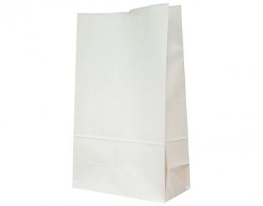 #16 SOS Paper Bags, flat bottom, White - Castaway
