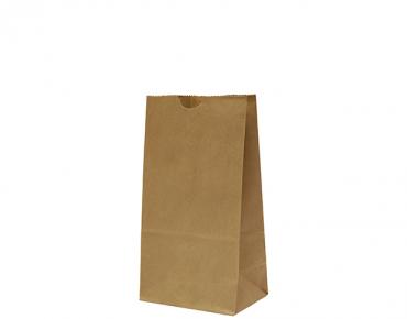 #4 SOS Paper Bags, flat bottom, Brown - Castaway