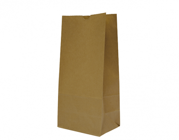 #12 SOS Paper Bags, flat bottom, Brown - Castaway