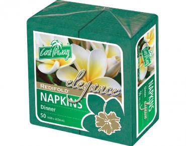 Elegance' Dinner Napkins, RediFold', Pine Green - Castaway
