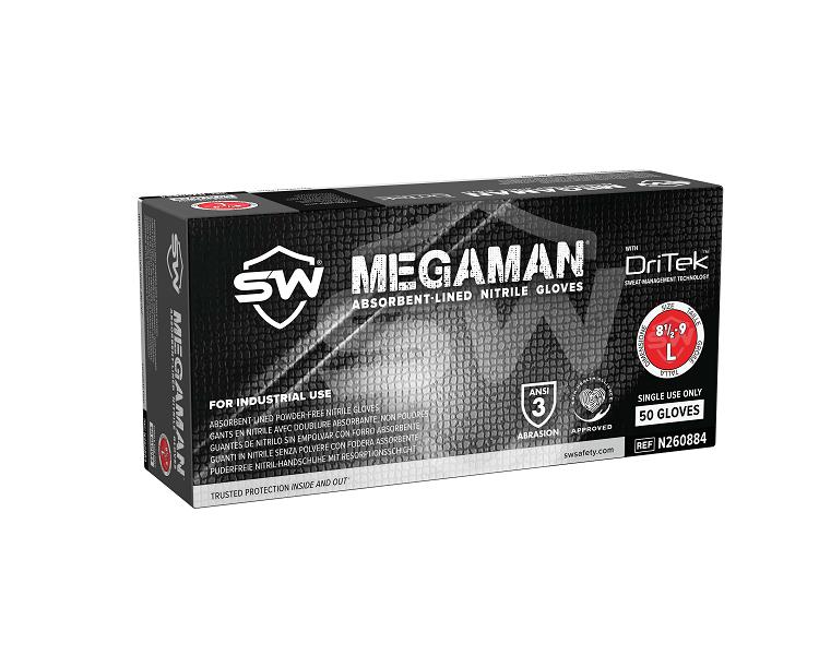 Megaman Nitrile Industrial Gloves Biodegradable - SW