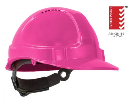 TUFF-NUT' Ratchet  Vented Hard Hat, PINK - Esko