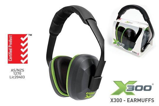 X300' Banded Earmuff, Gunmetal Grey - Esko