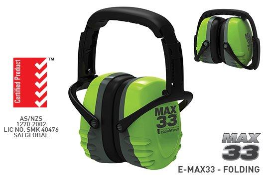 MAX 33' Collapsible Earmuff, Green/Grey - Esko