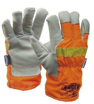REFLECTOR Rigger Glove with Orange Reflective back & Thinsulate lining 2X-LARGE - Esko