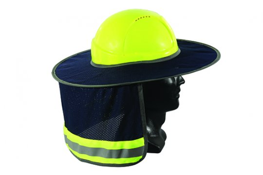 Good2Glow' Full Brim Hard Hat Sun Shield, Blue - Esko