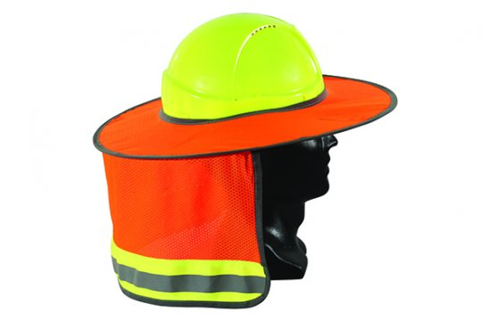 Good2Glow' Full Brim Hard Hat Sun Shield, Orange - Esko