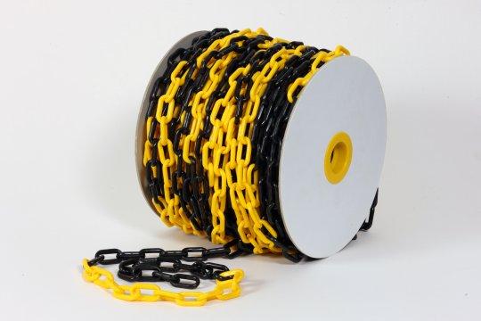Plastic Chain Black/Yellow 25m x 8mm - Esko