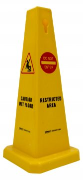 Floor Cone 'CAUTION WET FLOOR/RESTRICTED AREA' - Esko