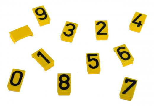 Hydrant Indicator Sign Numeral Inserts: Blank, 0-9 - Esko