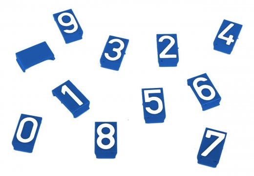Water Indicator Sign Numeral Inserts: Blank, 0-9 - Esko