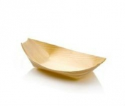 Pine boat 14 x 8 x 2.5cm Medium - Vegware - Pack & Carton