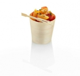 Pine cup 6 x 6cm Medium - Vegware - Pack & Carton