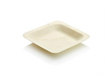 Pine tray 12 x 12 x 1.5cm Small - Vegware - Pack & Carton