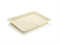Pine tray 26.5 x 21.5 x 3cm Large - Vegware - Pack & Carton
