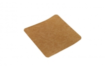 Card food serve 12 x 12cm kraft/white - Vegware