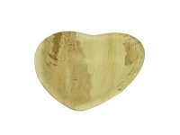 15cm heart palm dish - Vegware - Pack & Carton