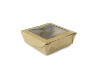 Medium window box 650ml 12x12x4.5cm - Vegware