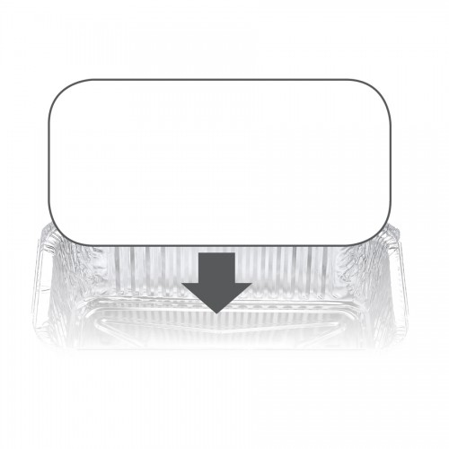 Ovenable Foil Container Board Lid 7122LB - Confoil