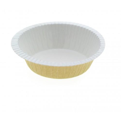 Paperboard Dualpak Round Pie Beige - Confoil