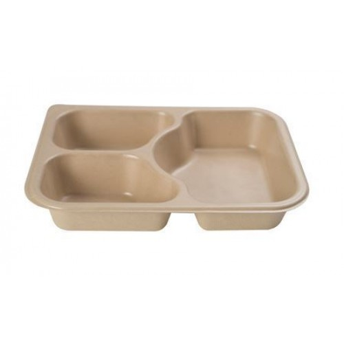 3 Cavity Deep Meal Tray - Confoil
