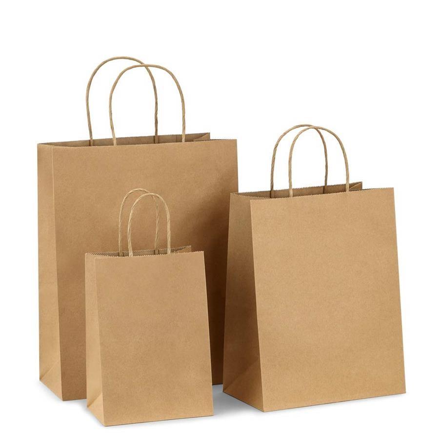 Twisted Handle Bags Small (200x80x240) - Coastal