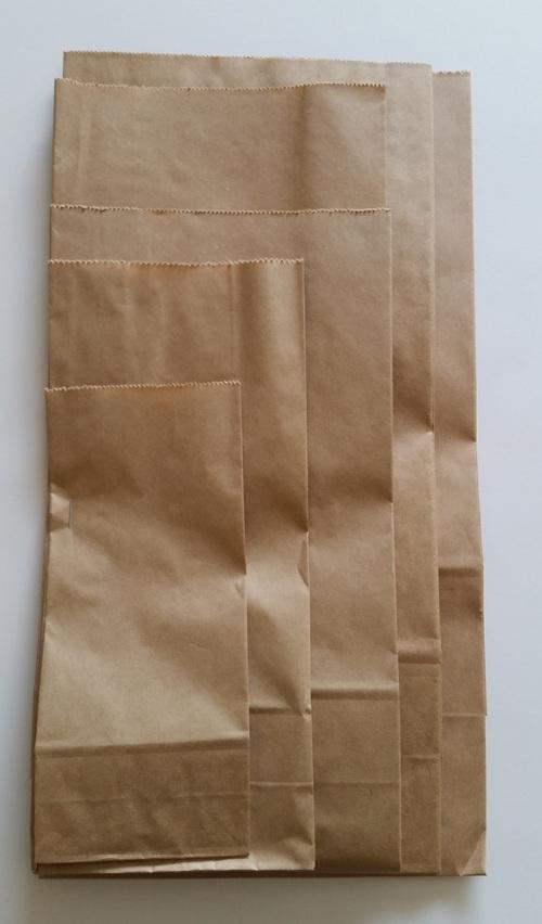 SOS Block Bottom Paper Bag #2 125x70x270mm - Fortune
