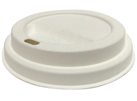 Lid Sugarcane for 12oz & 16oz hot cups - Castaway